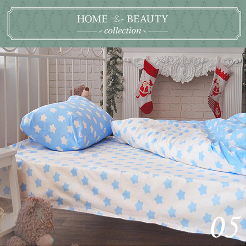 HOME&BEAUTY КПБ 1,5сп № 05 150х215см, 215х145см, 50х70 см, бязь