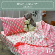 КПБ HOME&BEAUTY 1,5сп № 01 150х215см, 215х145см, 50х70 см, бязь
