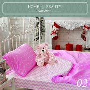 КПБ HOME&BEAUTY 1,5сп № 02 150х215см, 215х145см, 50х70 см, бязь