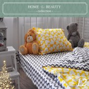 КПБ HOME&BEAUTY 1,5сп № 12 150х215см, 215х145см, 50х70 см, бязь